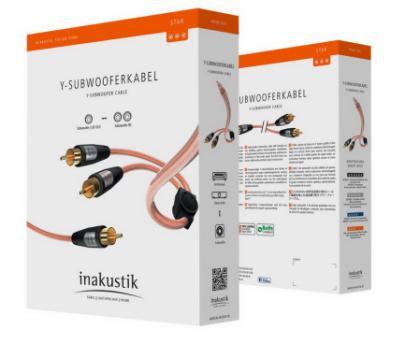 Сабвуферный кабель Inakustik Star Audio Cable Y-Sub 2.0