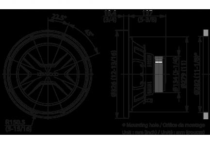 Автомобильный сабвуфер Kenwood KFC-PS3017W