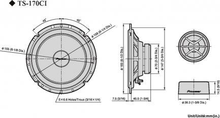 Автоакустика Pioneer TS-170Ci