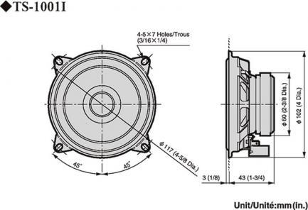 Автоакустика Pioneer TS-1001i
