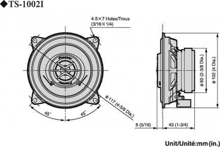 Автоакустика Pioneer TS-1002i
