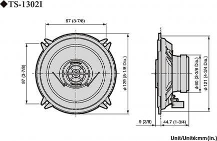 Автоакустика Pioneer TS-1302i