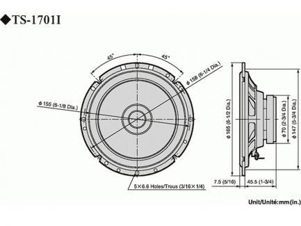 Автоакустика Pioneer TS-1701i