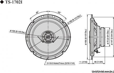 Автоакустика Pioneer TS-1702i